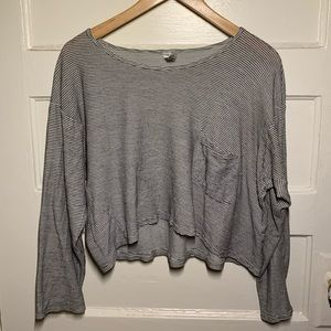 American Apparel Oversized Pocket Crop Long Sleeve